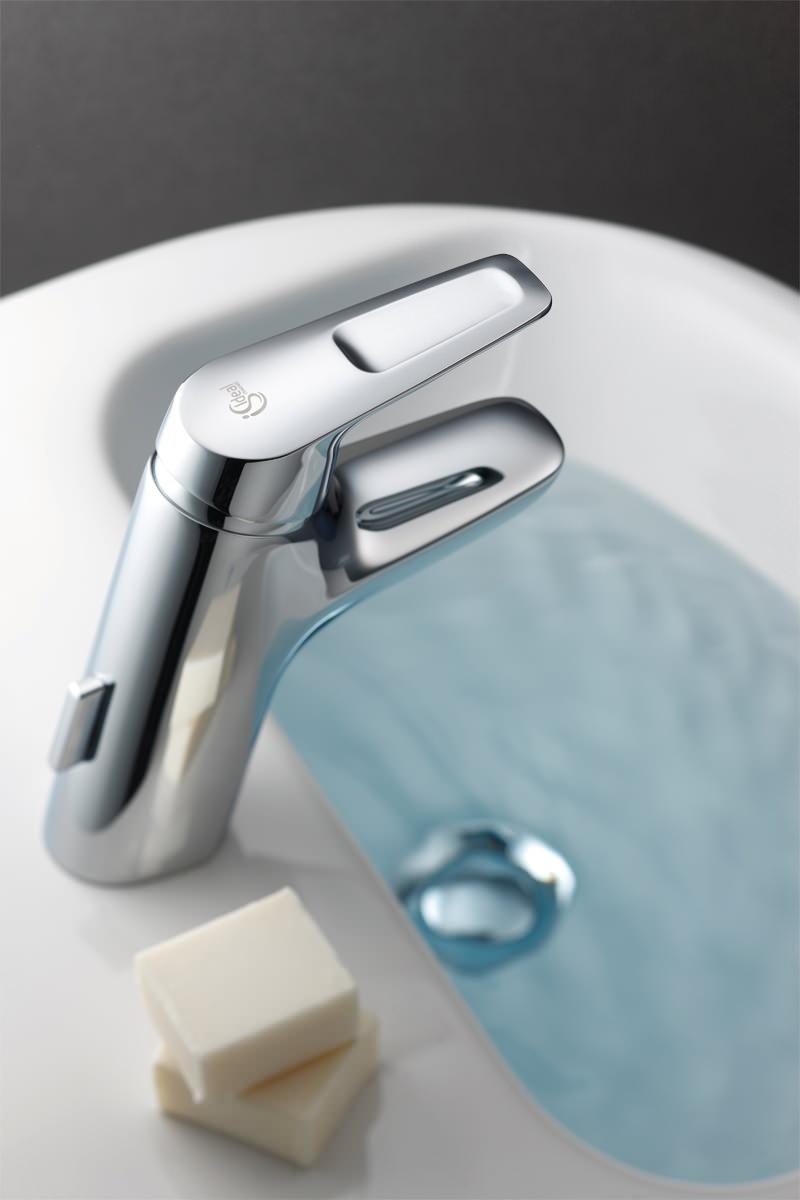 ideal standard ceramix blue single lever basin mixer with waste. Black Bedroom Furniture Sets. Home Design Ideas
