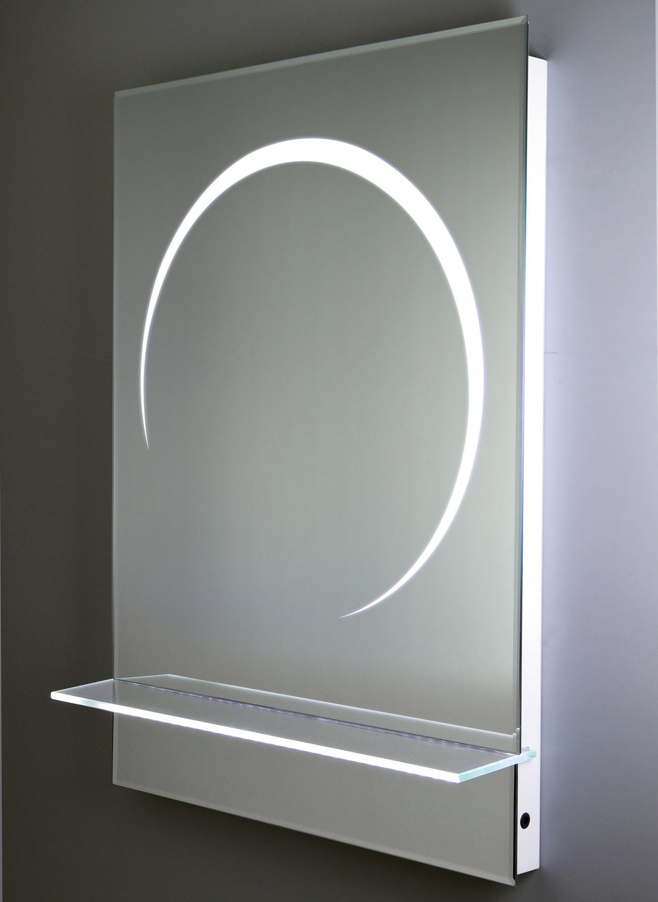 rak eclipse 5 or 6 white framed led touch sensor mirror. Black Bedroom Furniture Sets. Home Design Ideas