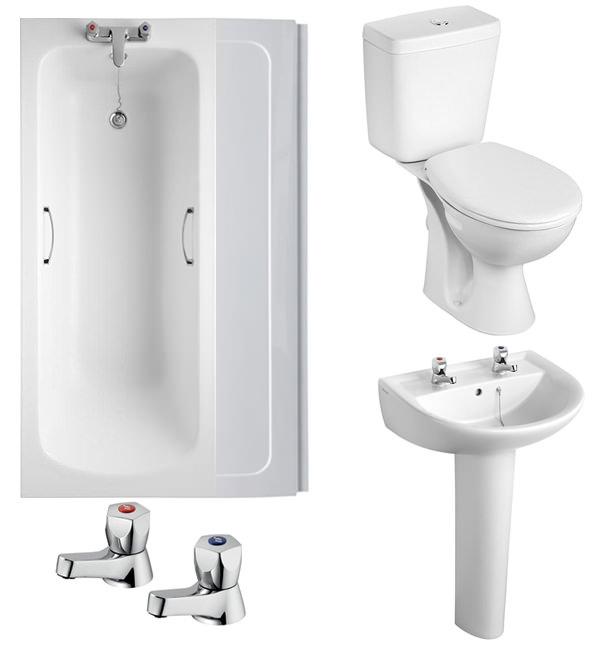 Armitage Shanks Sandringham 21 2TH White Bathroom To Go Pack. Armitage Shanks Sandringham 21 2TH White Bathroom To Go Pack   S050101