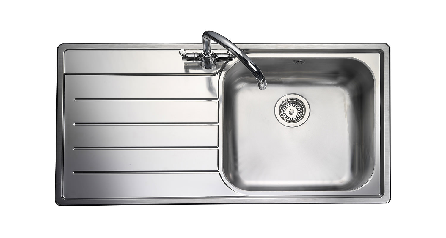 Best Rated Stainless Steel Sinks : ... sink rangemaster oakland 1 bowl stainless steel kitchen sink left hand