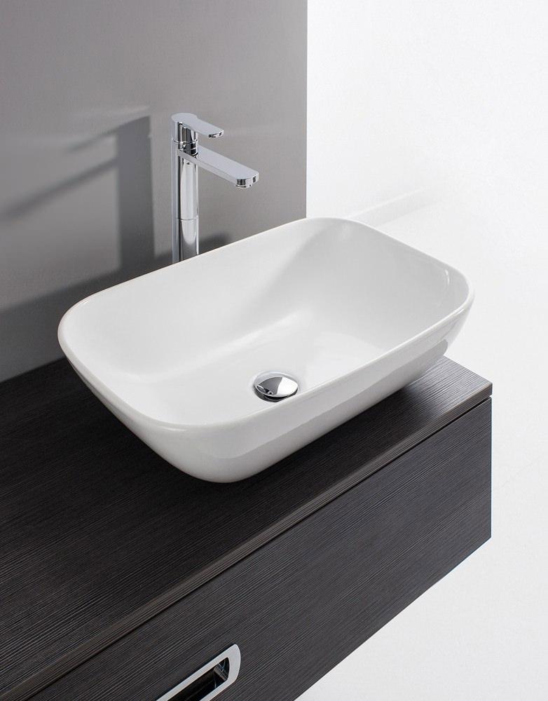 Bathroom Basin: Bauhaus Gallery Serene 580mm Countertop Basin Without
