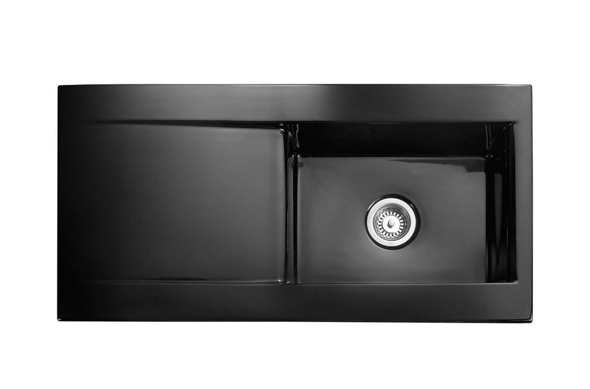 rangemaster nevada 1 0 bowl black ceramic kitchen sink