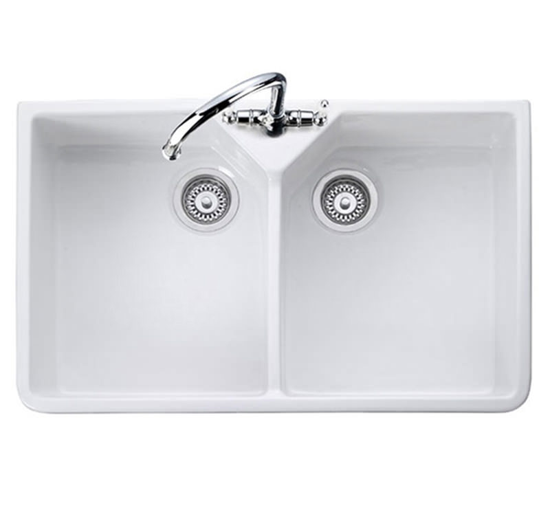 rangemaster kitchen sinks rangemaster bowl belfast white ceramic kitchen sink 1721