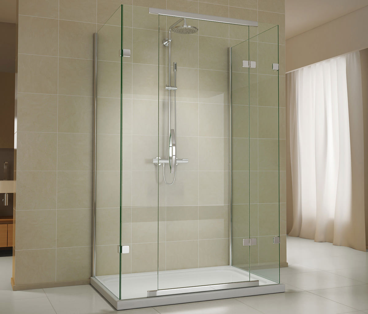 Object moved for 1200 shower door hinged