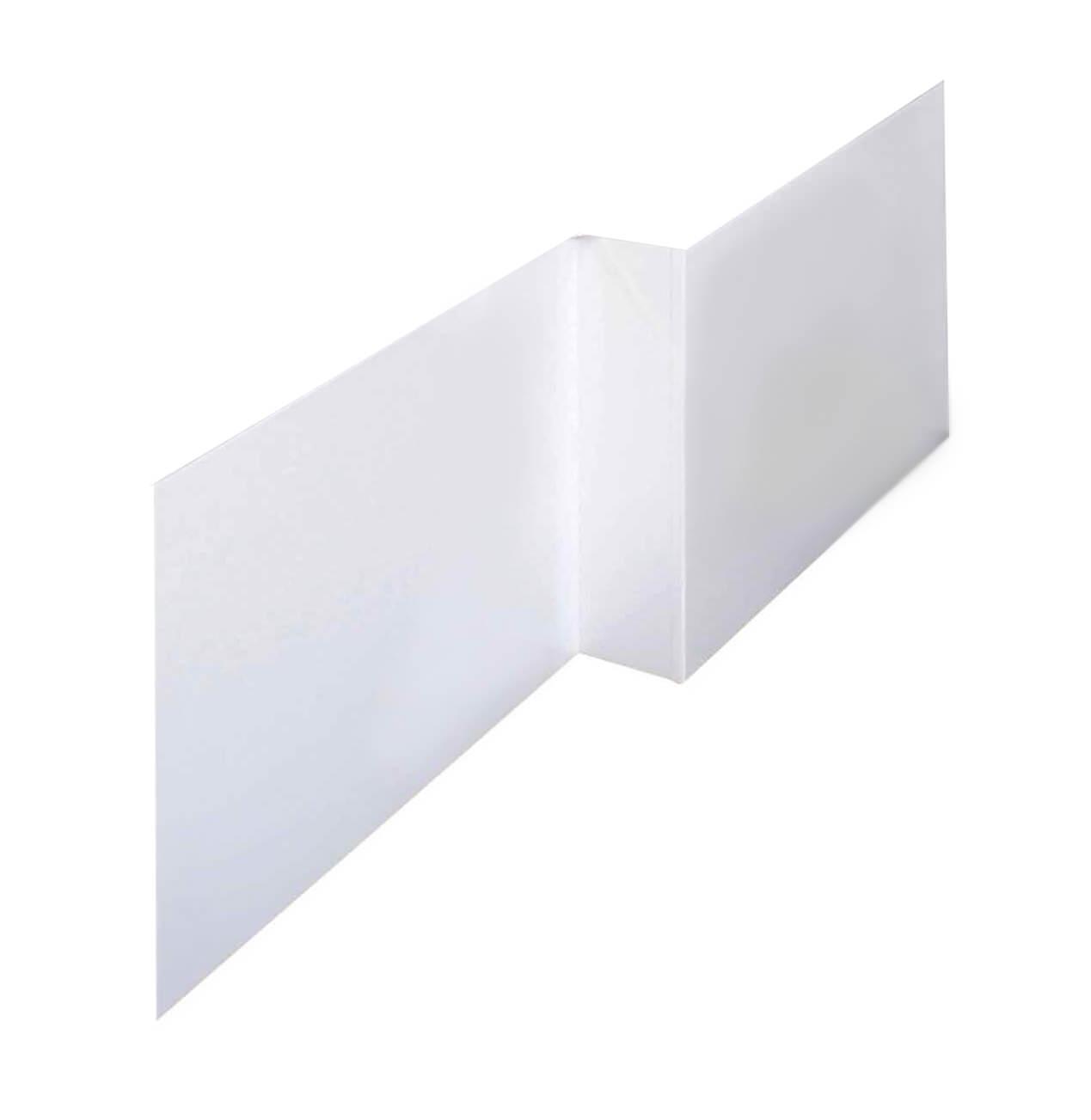 lauren 1700mm white offset mdf front bath panel nmp135. Black Bedroom Furniture Sets. Home Design Ideas