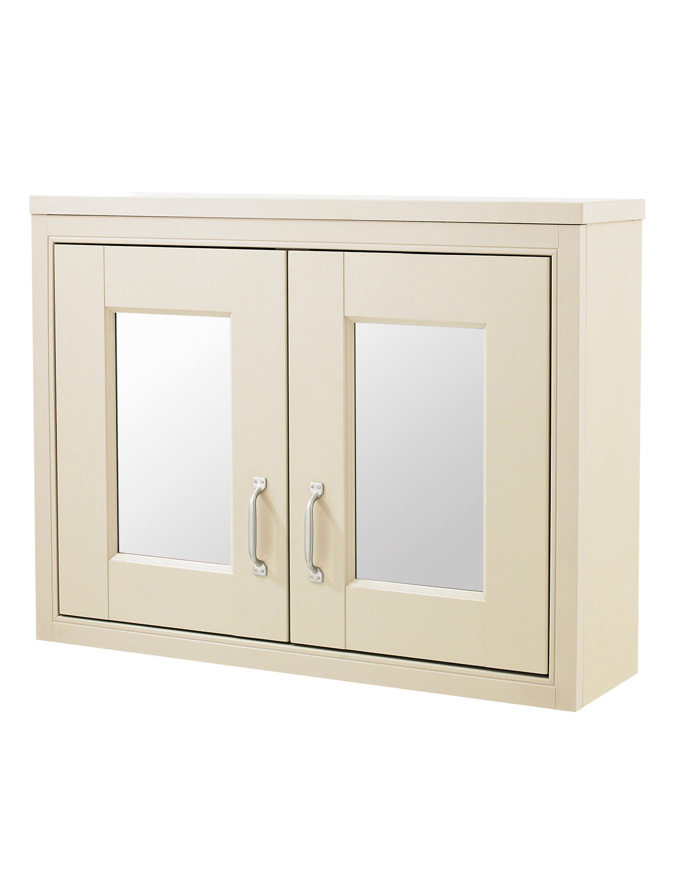 Old London Ivory 800mm Mirror Cabinet Nlv315