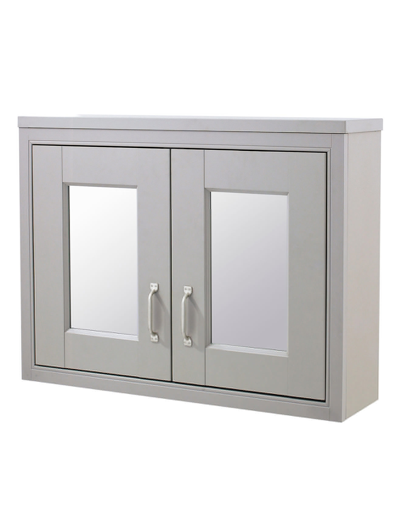 Old London Stone Grey 800mm Mirror Cabinet Nlv415