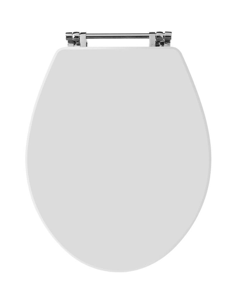 Old London Richmond White Bottom Fix Wooden Toilet Seat