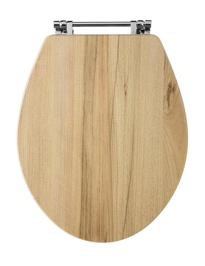 Old London Richmond Natural Walnut Bottom Fix Wooden Toilet Seat NLS599