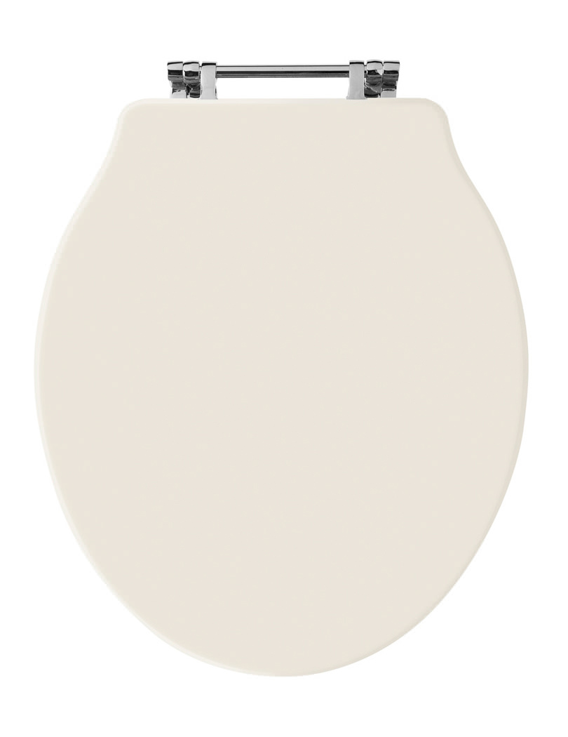 Old London Chancery Ivory Bottom Fix Wooden Toilet Seat