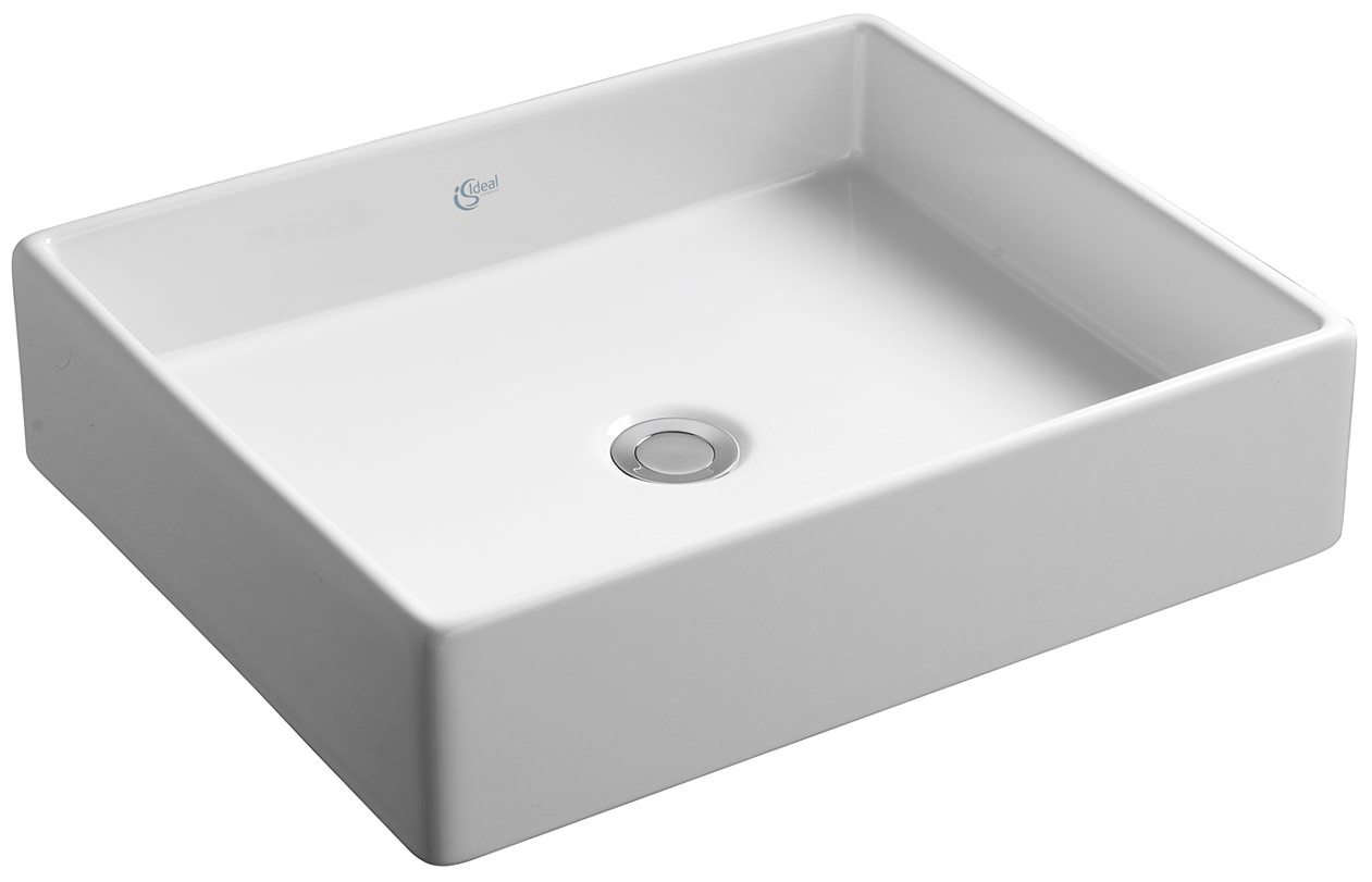 ideal standard strada 500mm vessel basin with no tap hole. Black Bedroom Furniture Sets. Home Design Ideas