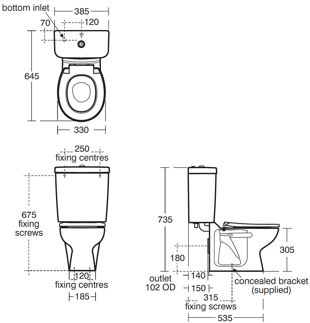 Armitage Shanks Contour 21 Close Coupled Wc Pan With