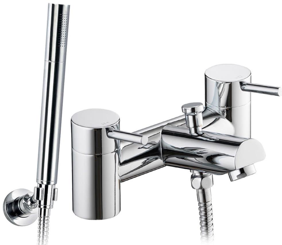 pura xcite bath shower mixer tap with handset and hose xcbsm. Black Bedroom Furniture Sets. Home Design Ideas
