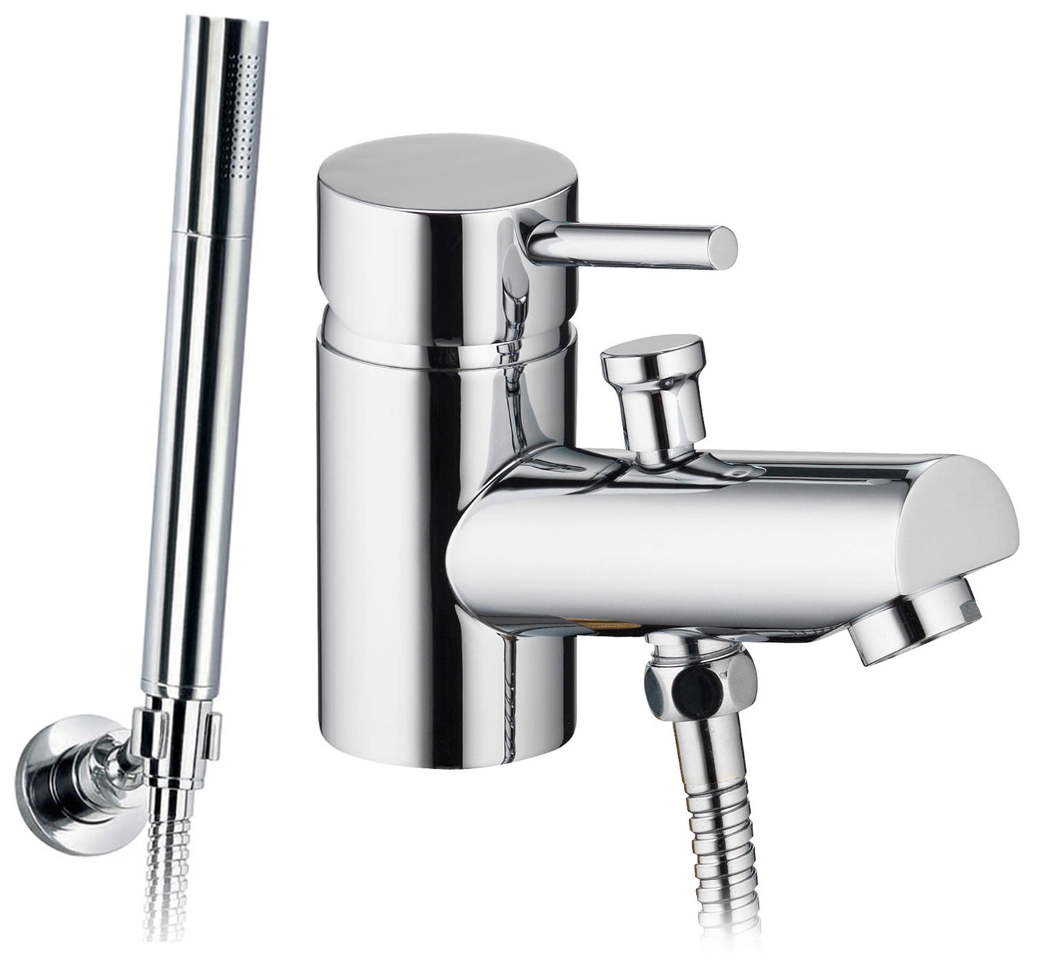 Pura Xcite Mono Bath Shower Mixer Tap With Handset And Hose