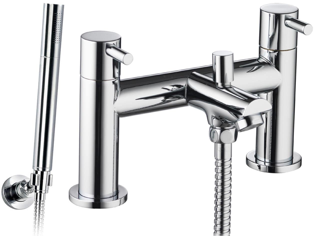 pura ivo bath shower mixer tap with handset and hose ivbsm. Black Bedroom Furniture Sets. Home Design Ideas