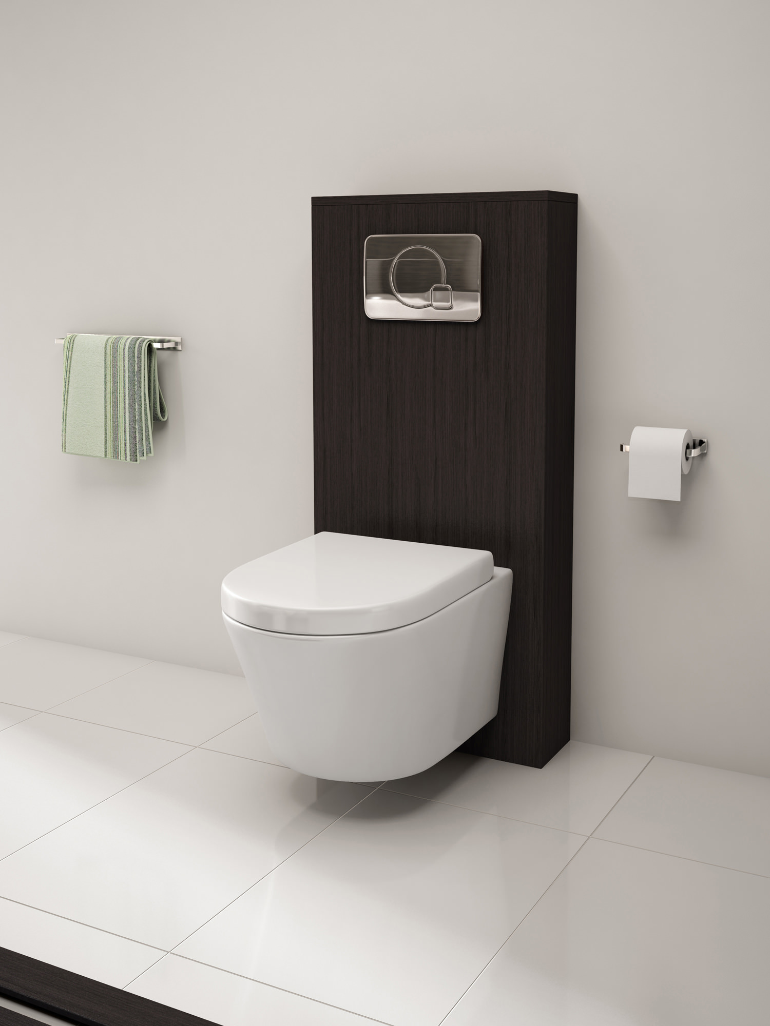 Pura Arco Wall Hung Wc Bowl And Soft Close Seat 520mm