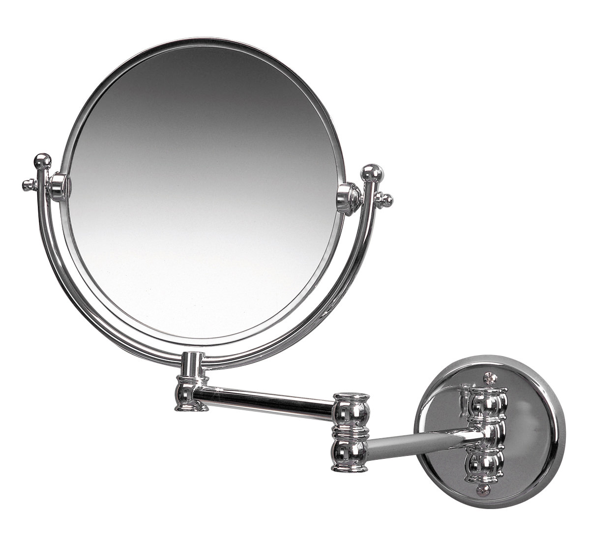 miller bathroom mirrors miller classic traditional 190mm magnifying mirror 13647