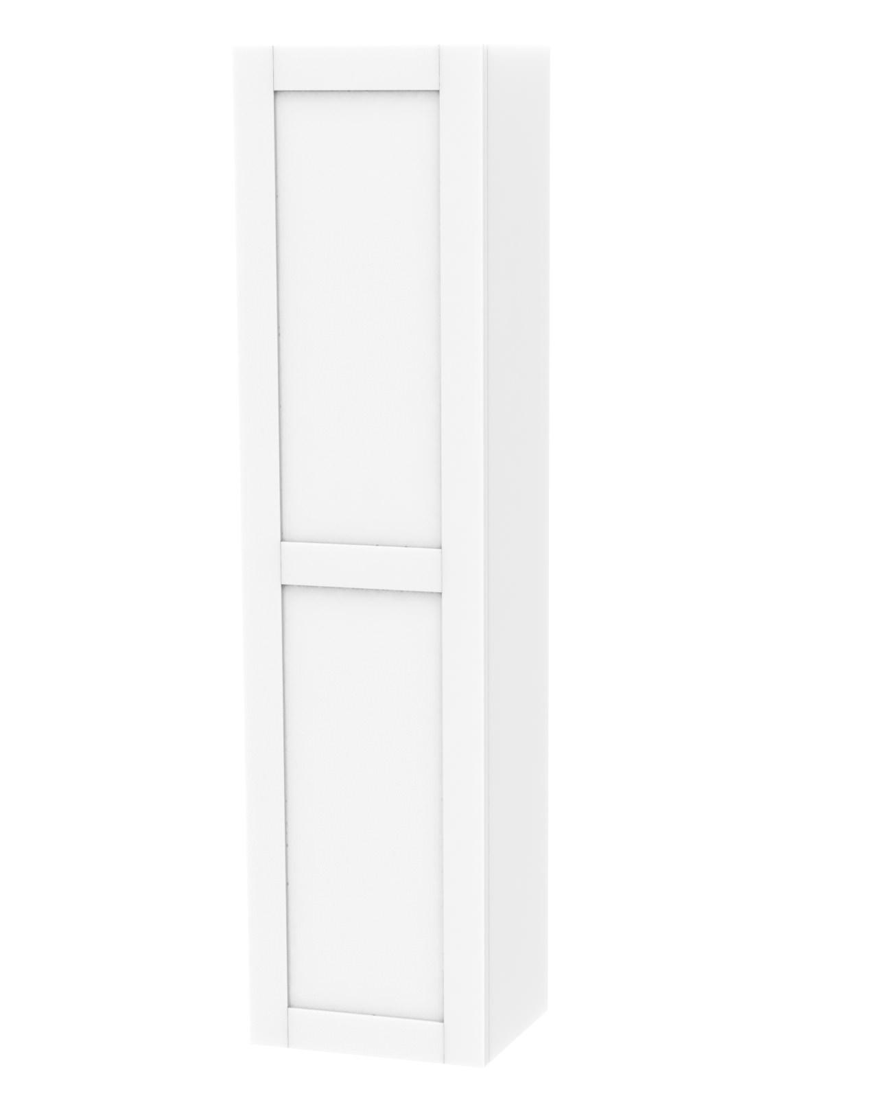 Miller London White Single Door Tall Cabinet 400 X 1690mm