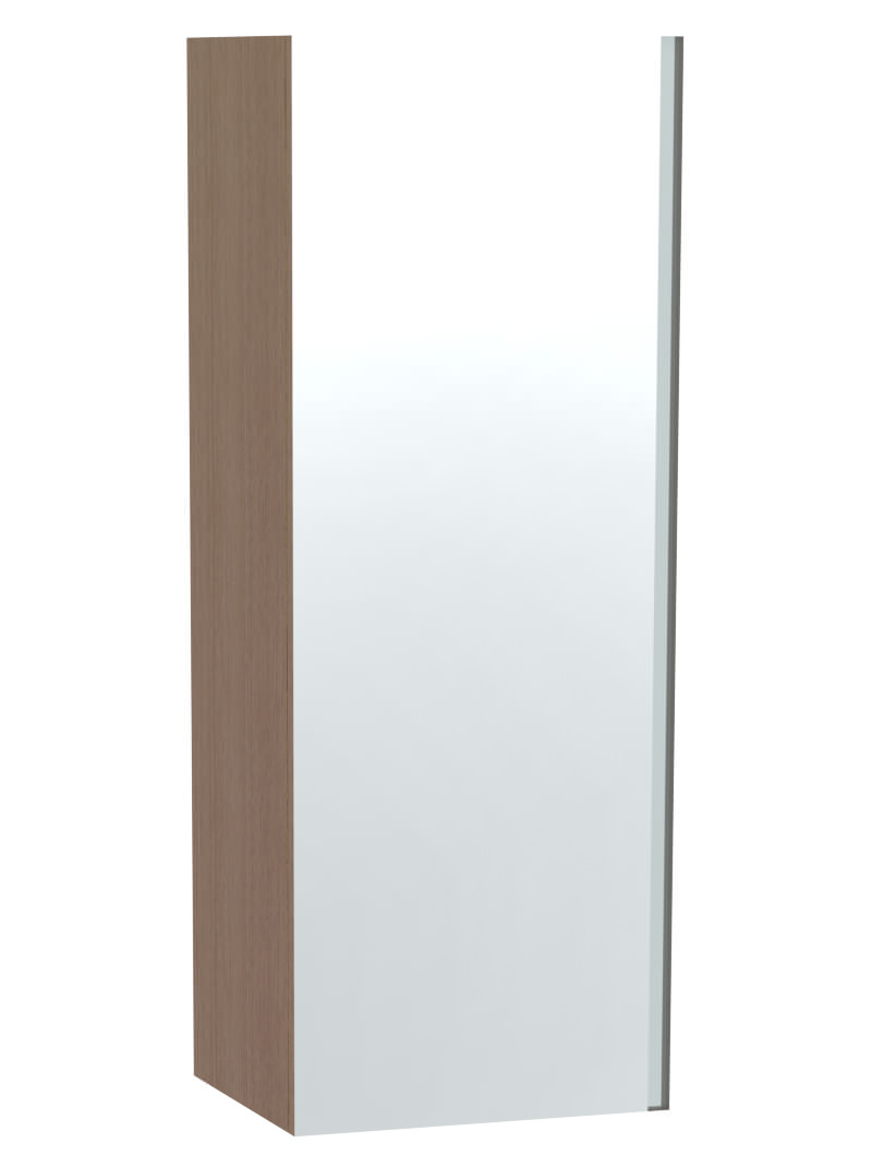 Miller London Oak Single Door Mirror Cabinet 400 X 1111mm