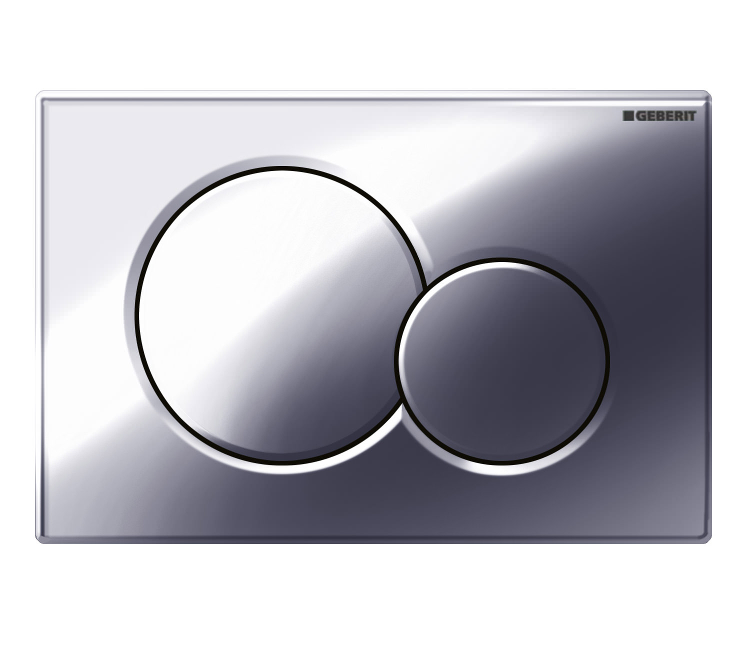 Geberit sigma01 dual flush plate gloss chrome for Geberit flush
