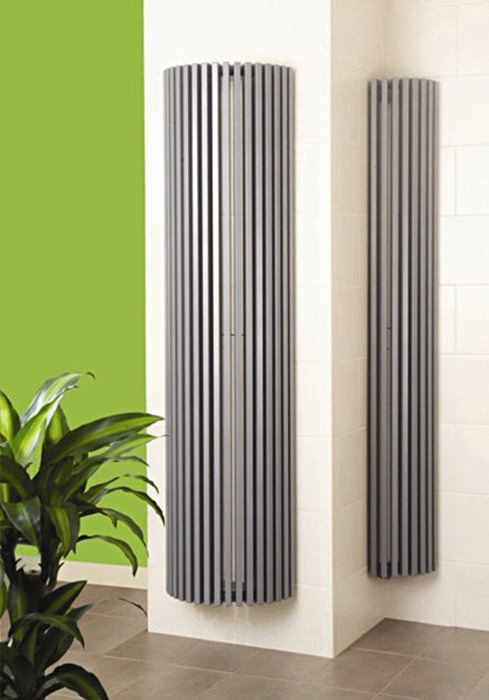 Apollo Bassano Vertical Half Round White Radiator 475 X