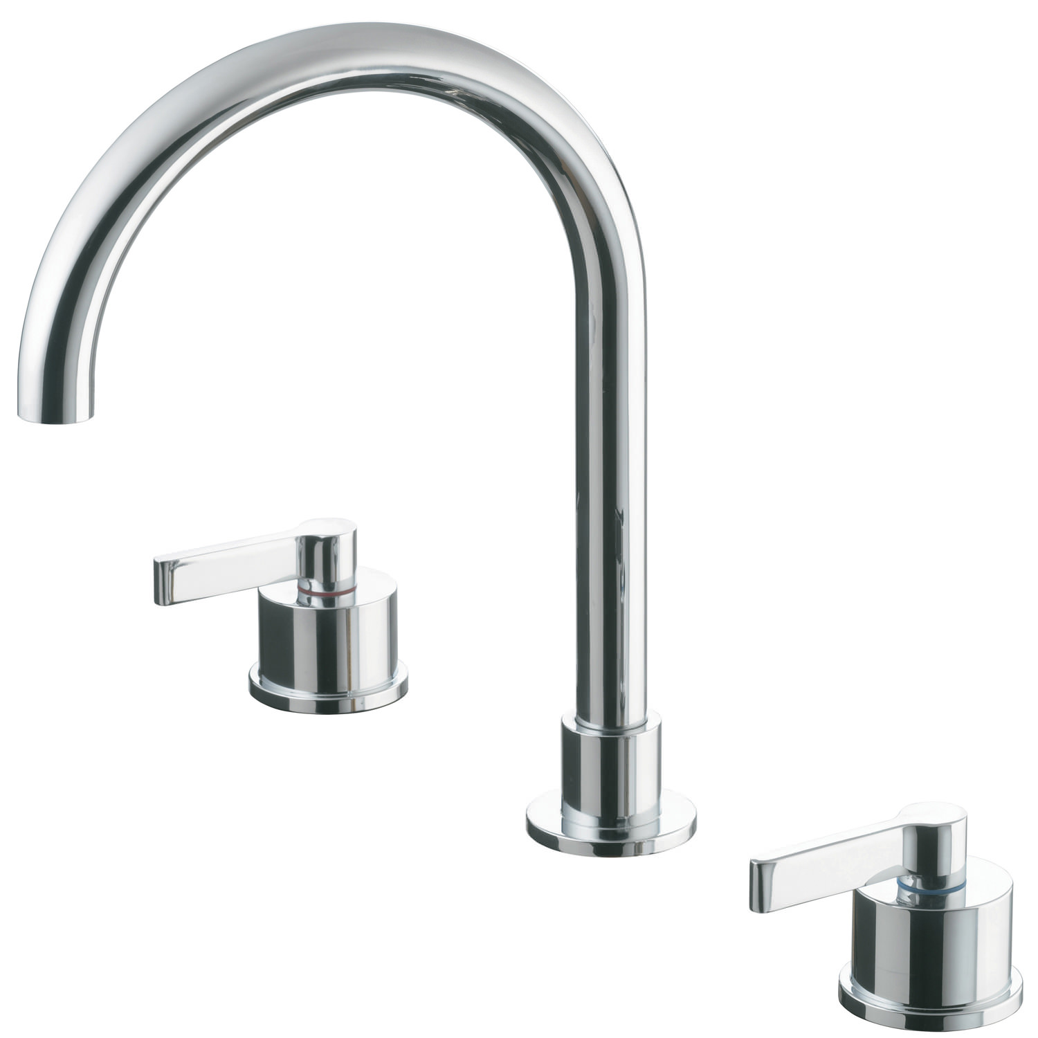 Ideal Standard Silver 3 Hole Basin Mixer Tap Without Waste - E0062AA