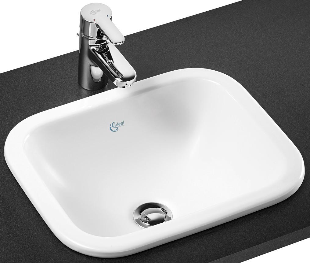 ideal standard concept cube 420mm countertop basin no. Black Bedroom Furniture Sets. Home Design Ideas