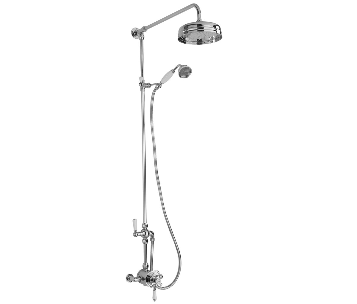 Beo Traditional Exposed Shower Valve With Riser Kit And Diverter-BEO ...