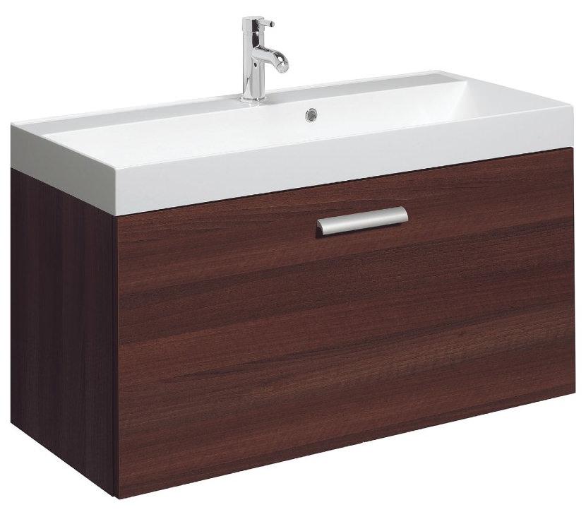 Bauhaus design plus 1000mm single drawer wall hung basin for 1000mm kitchen drawer unit