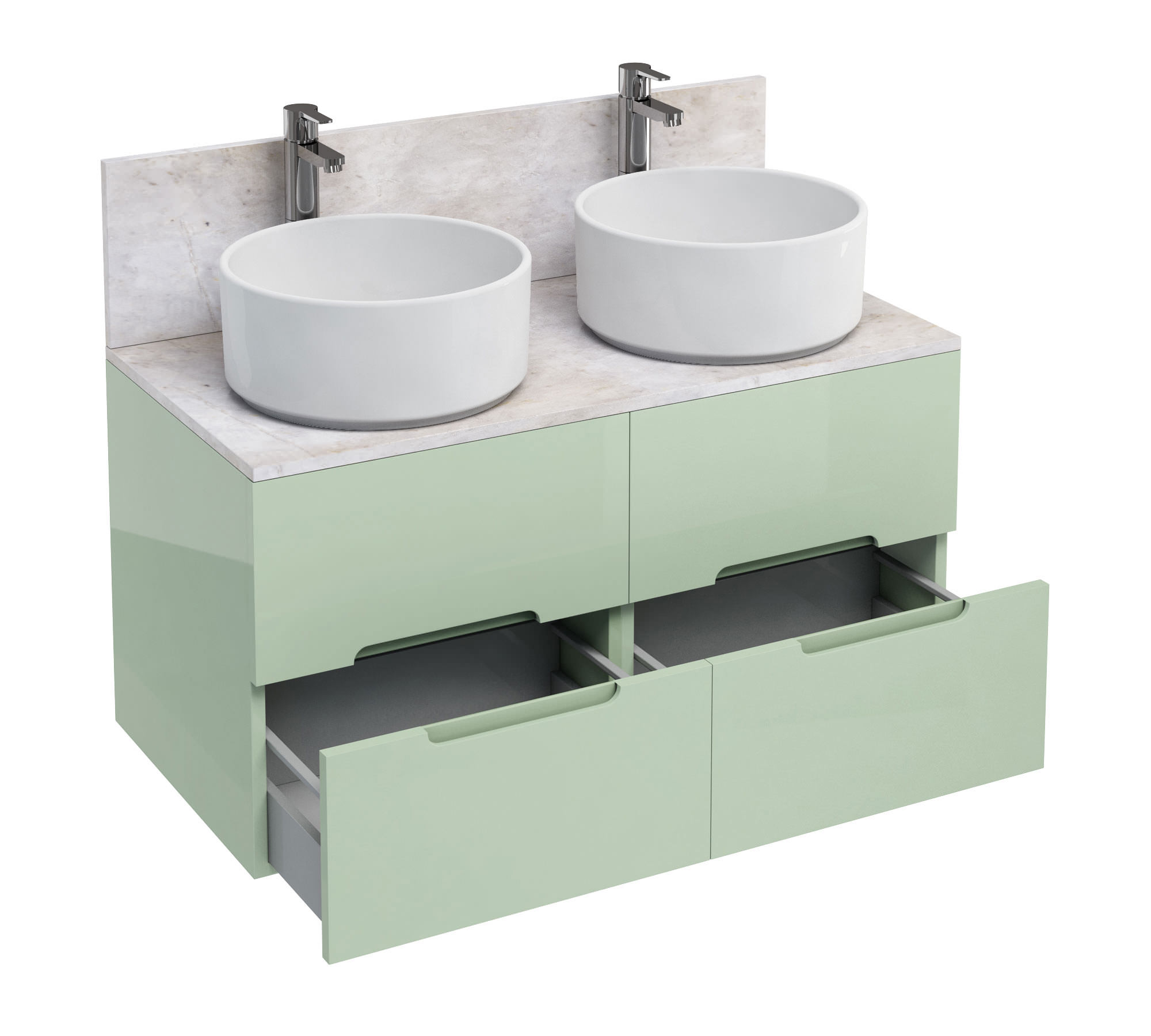 of britton aqua cabinets d1000 wall mounted units with 2 round basin