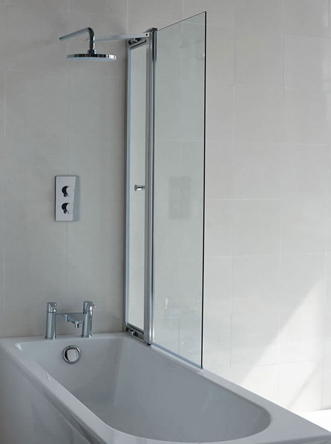 Captivating Britton Cleargreen 850 X 1450mm Hinged Bathscreen With Access Panel ...