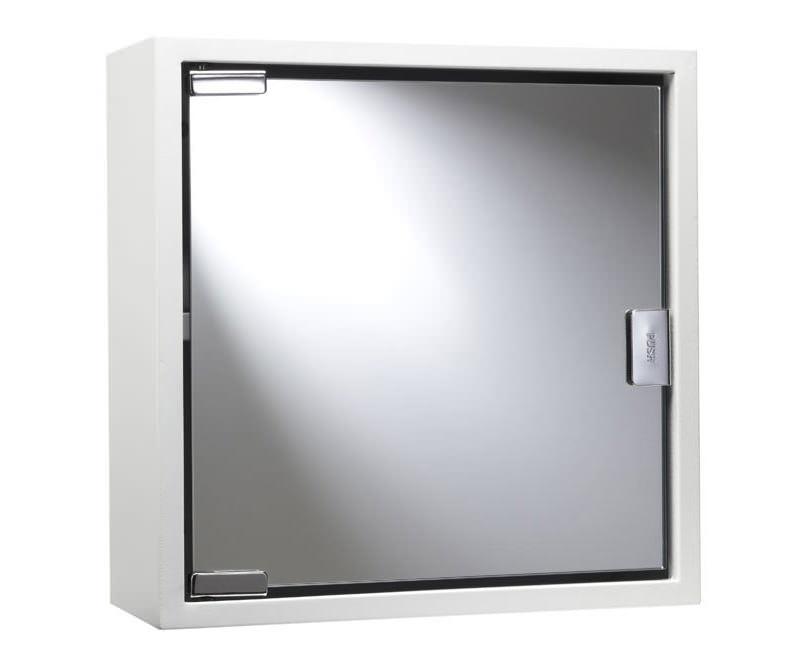 croydex white coloured steel mirror cabinet wc870222