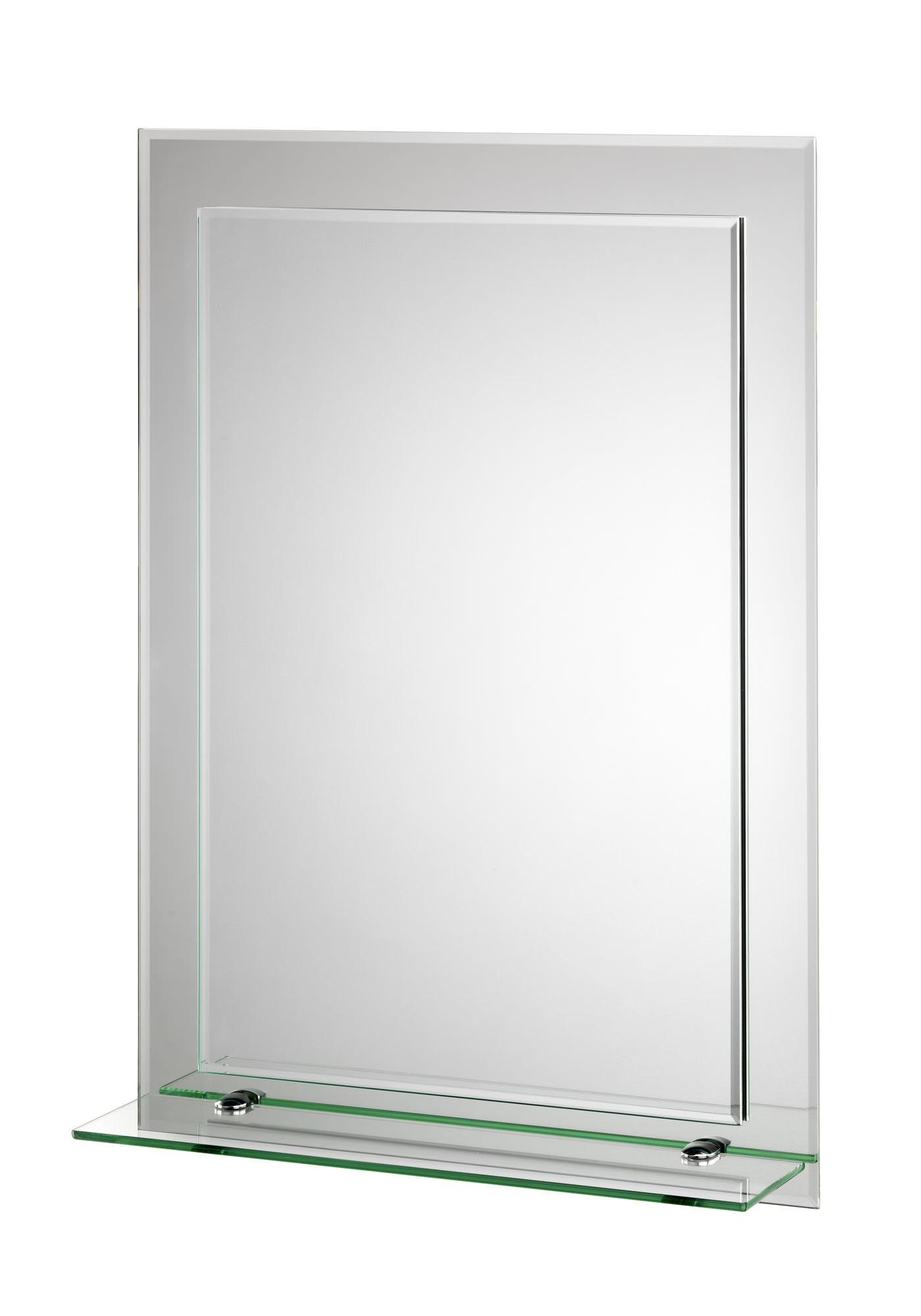 Croydex Devoke Rectangular Double Layer Mirror With Shelf Mm700300