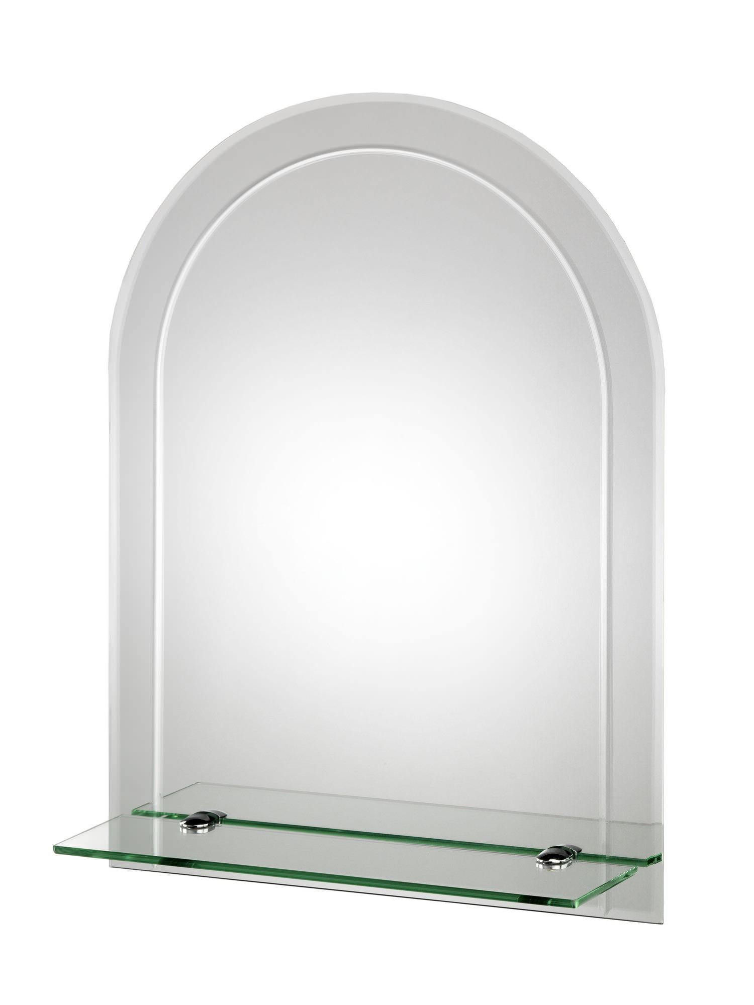 Croydex Fairfield Arch Mirror With Shelf 450 X 600mm