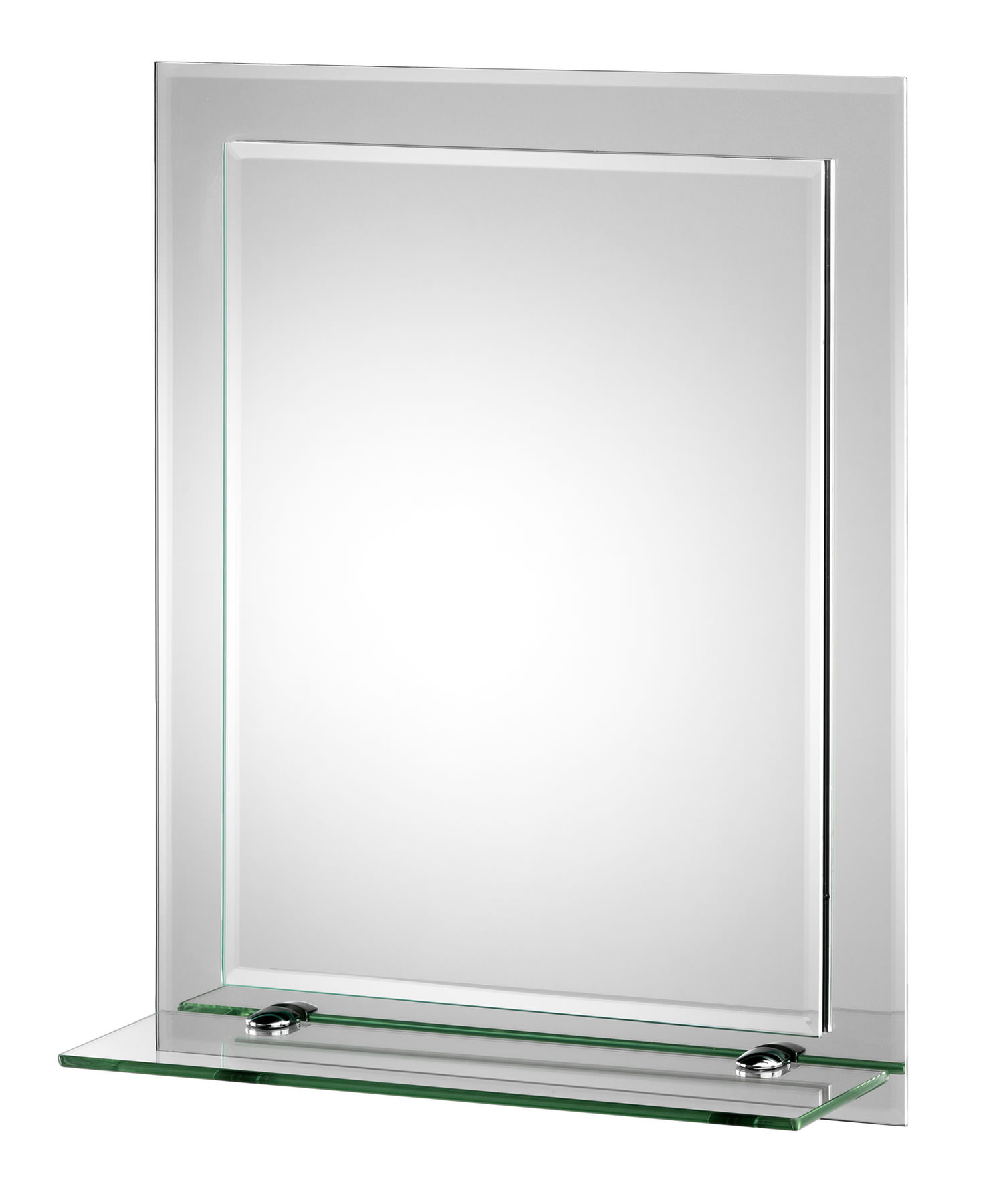 croydex rydal rectangular double layer mirror with shelf mm700800