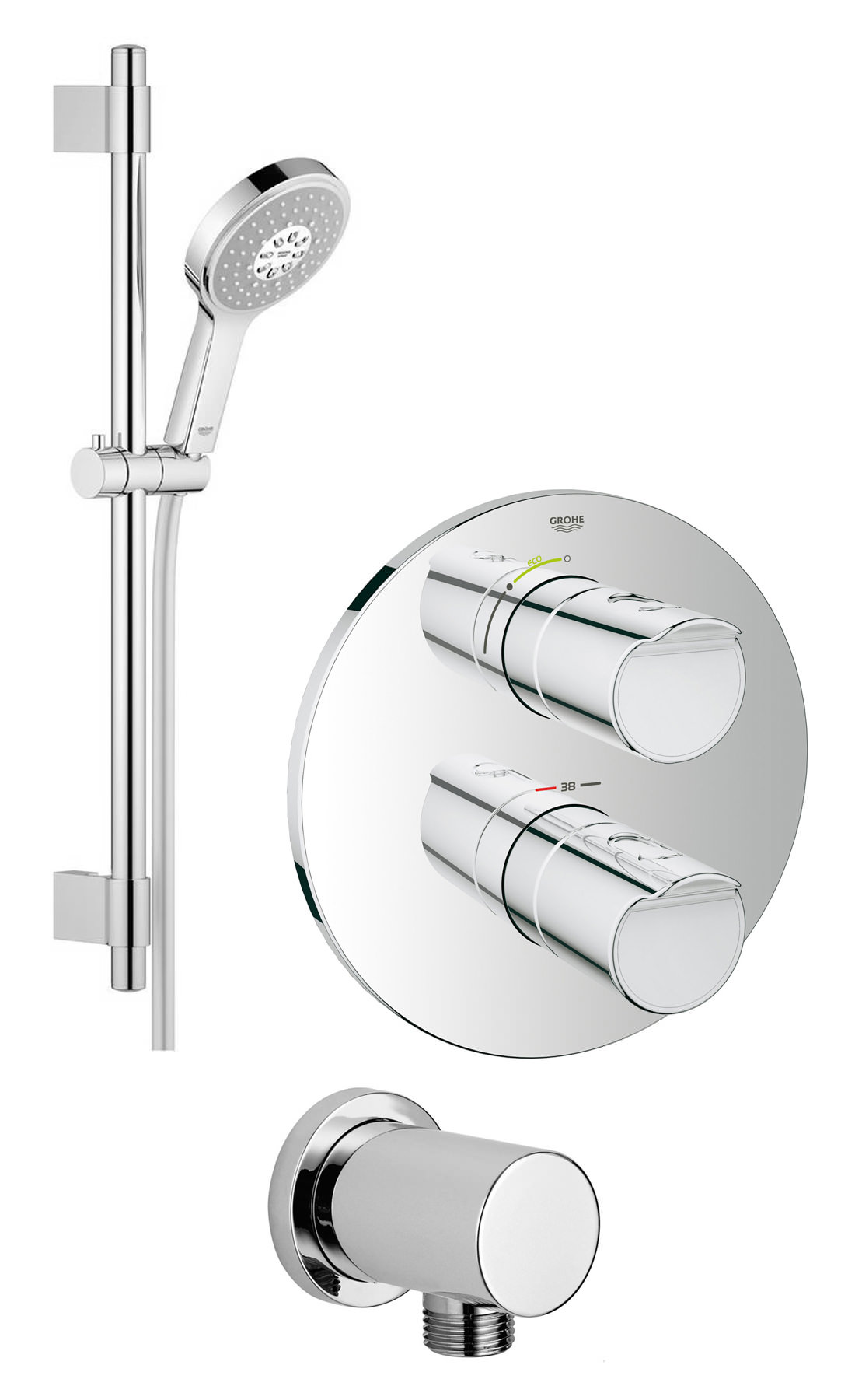 Grohtherm 200 new plus and power and soul shower solution pack 1 - Grohe grohtherm 2000 ...