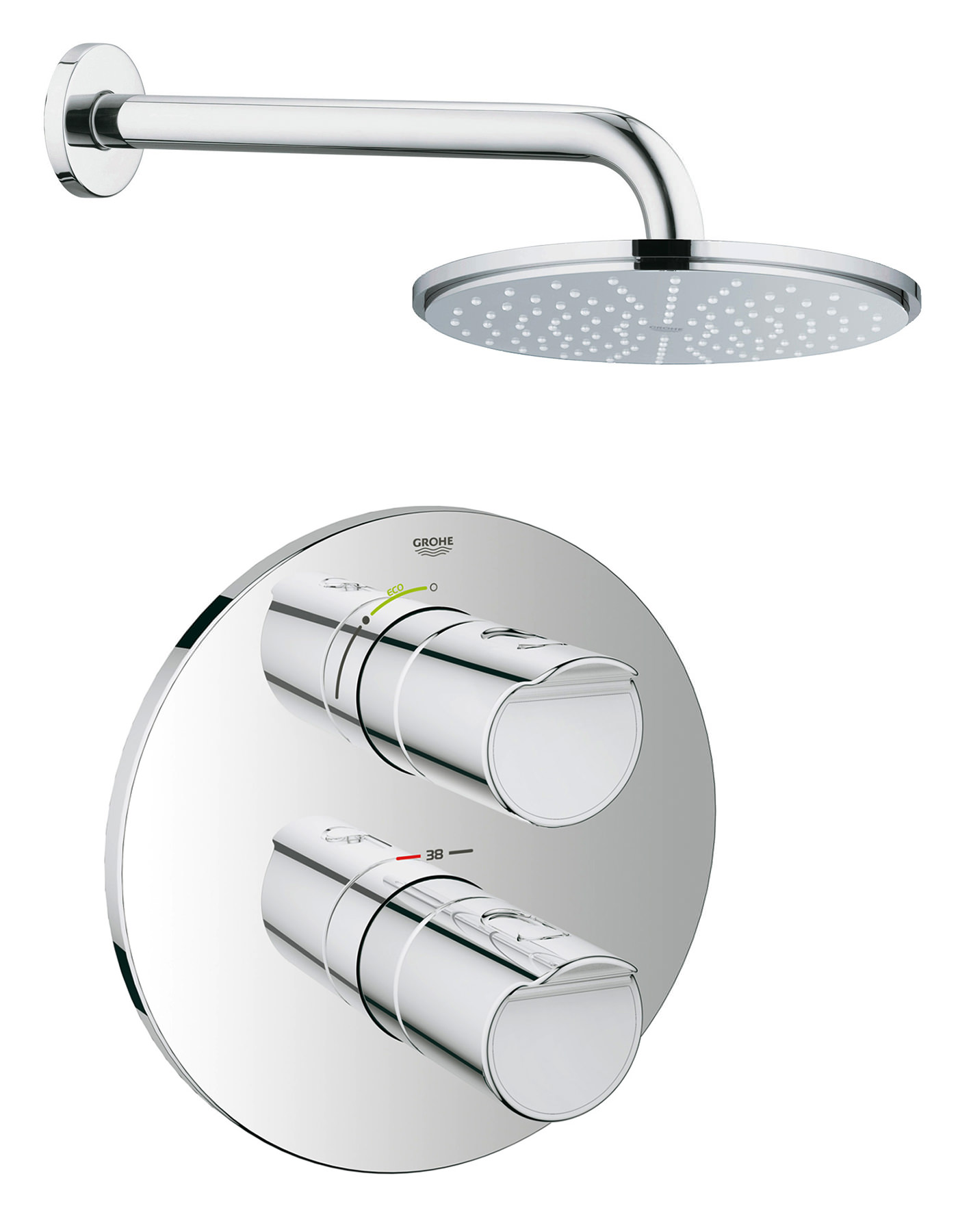 Grohtherm 3000 Cosmopolitan And Rainshower Shower Solution Pack