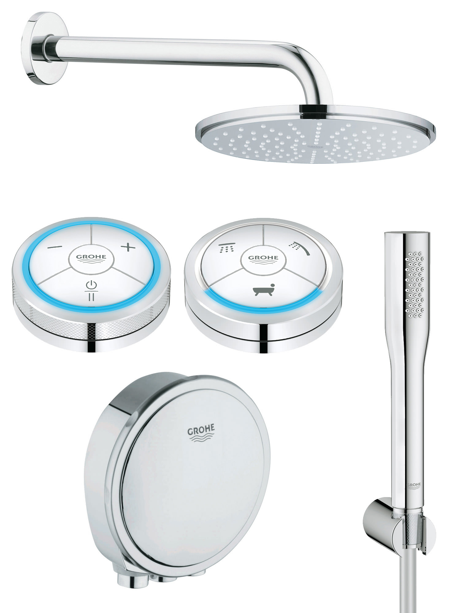 Grohe Spa Grohe F Digital Bath And Shower Solution Pack 1