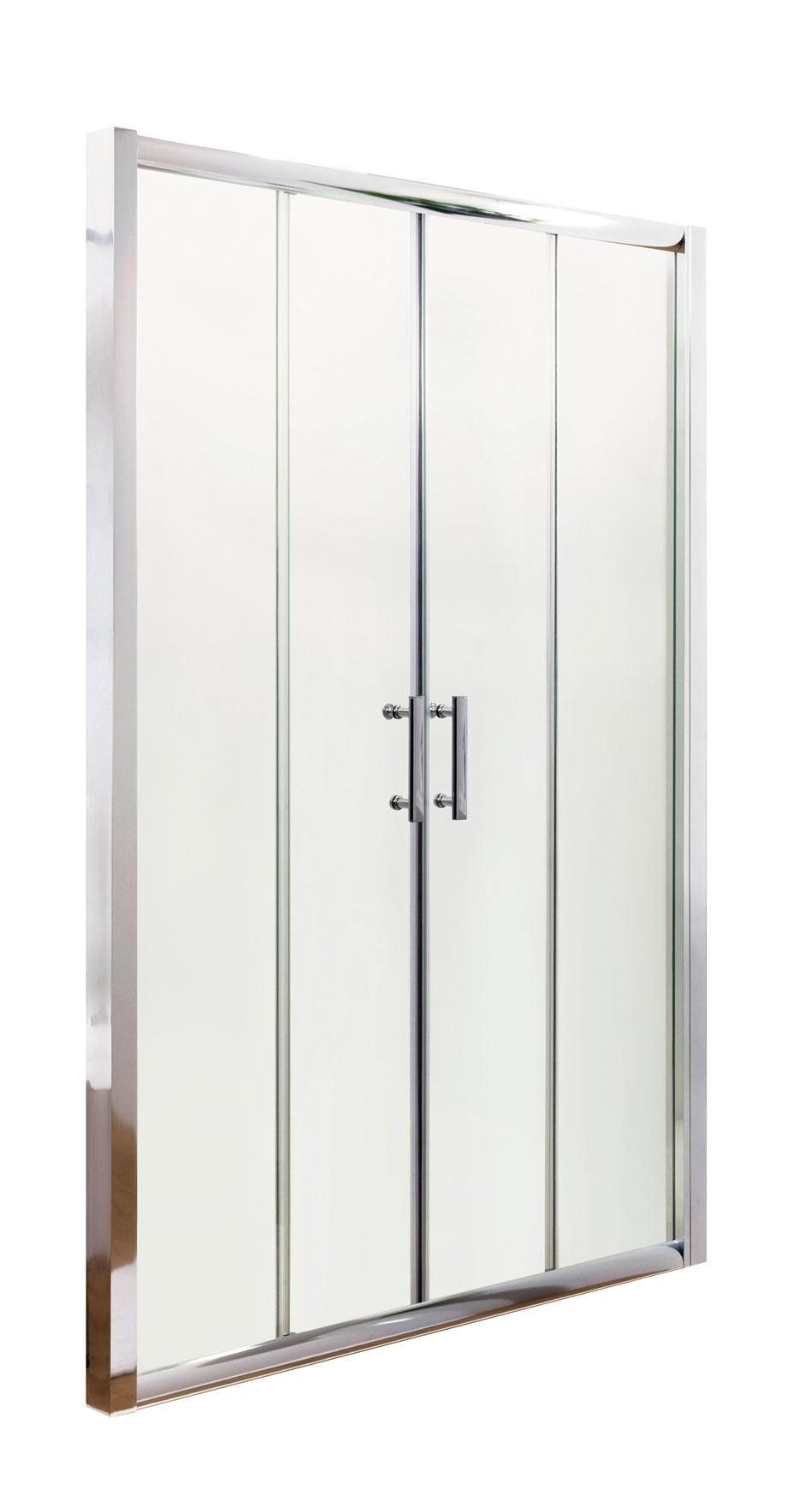 Lauren pacific double sliding shower door 1500 x 1850mm for 1500 sliding shower door