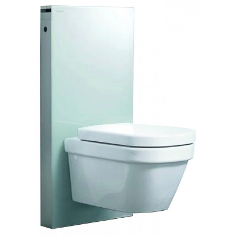 geberit white glass monolith for wall hung wc. Black Bedroom Furniture Sets. Home Design Ideas