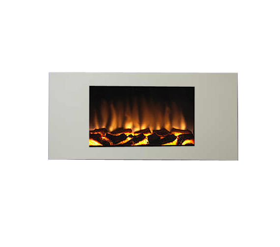 Marino XL Remote Control Wall Mounted Electric Fire Cream ...