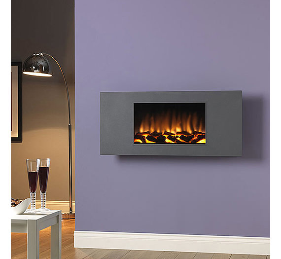 Marino Xl Remote Control Wall Mounted Electric Fire Grey