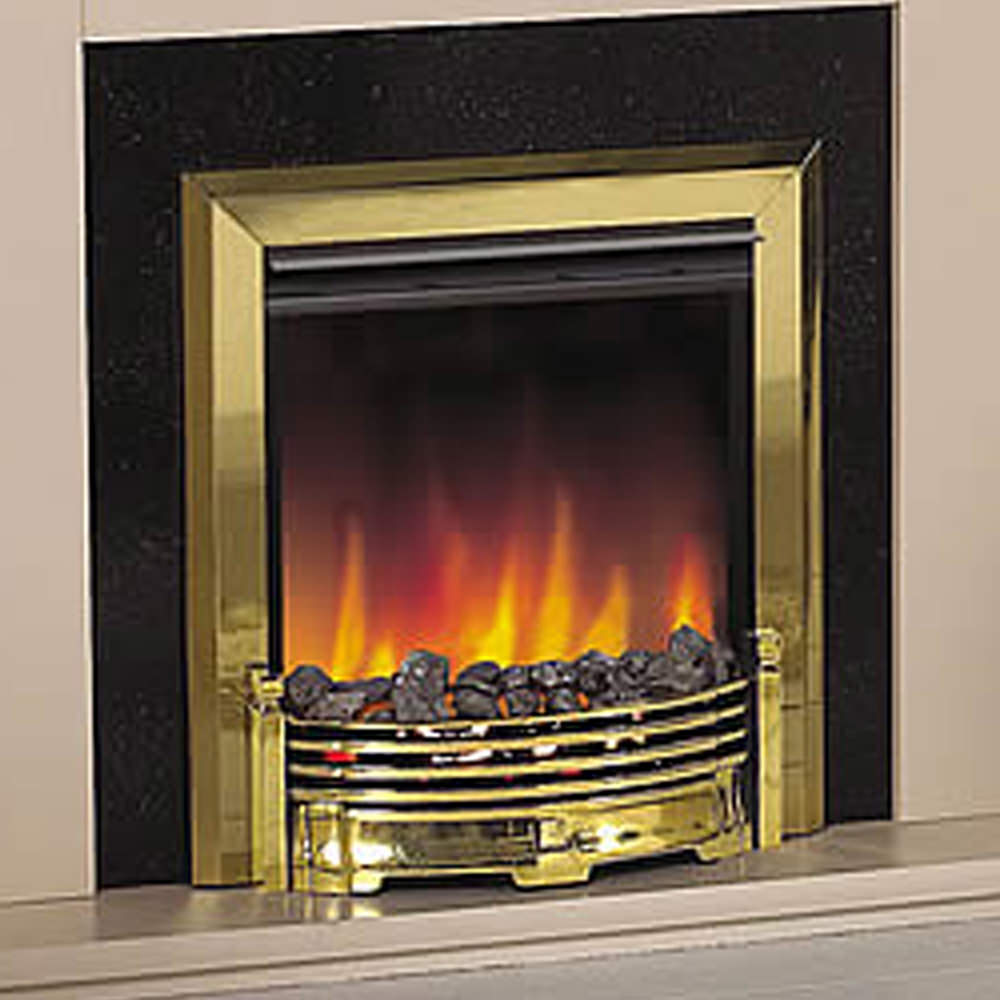 Dimplex Loxely Remote Control Inset Electric Fire Brass