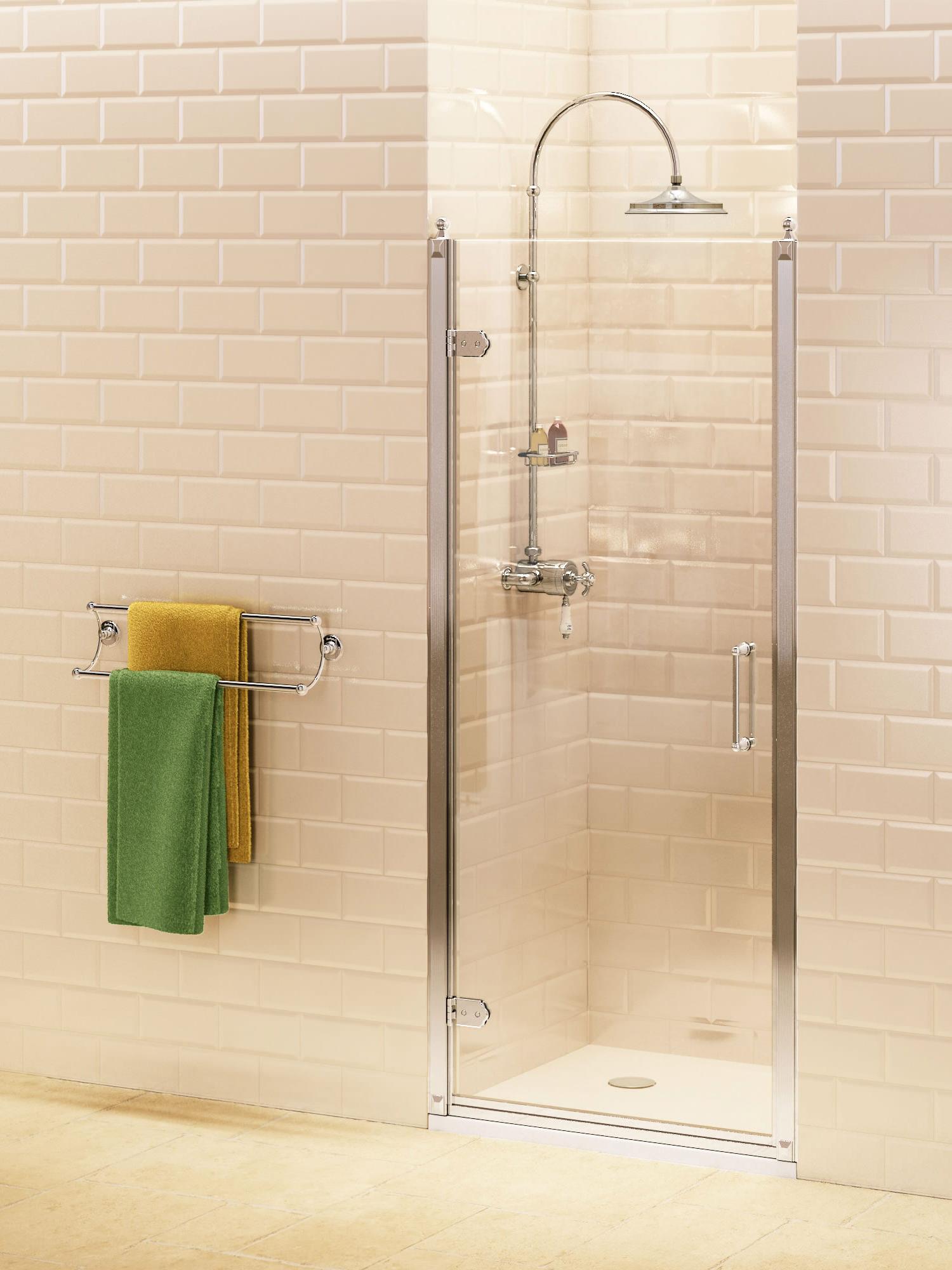 Burlington Hinged 900mm Shower Door Bu3