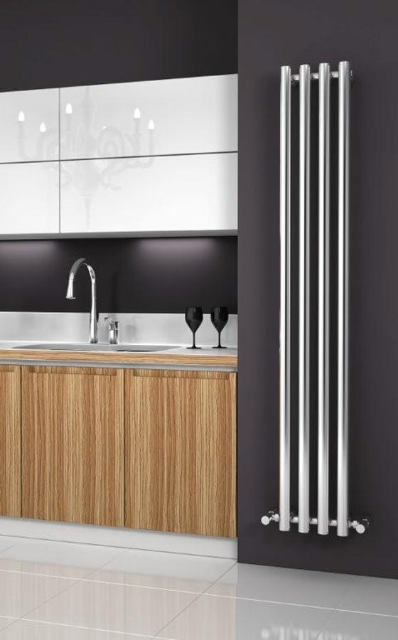 kitchen cabinets luxury reina oria designer radiator 270 x 1800mm chrome rnd or2718 20753