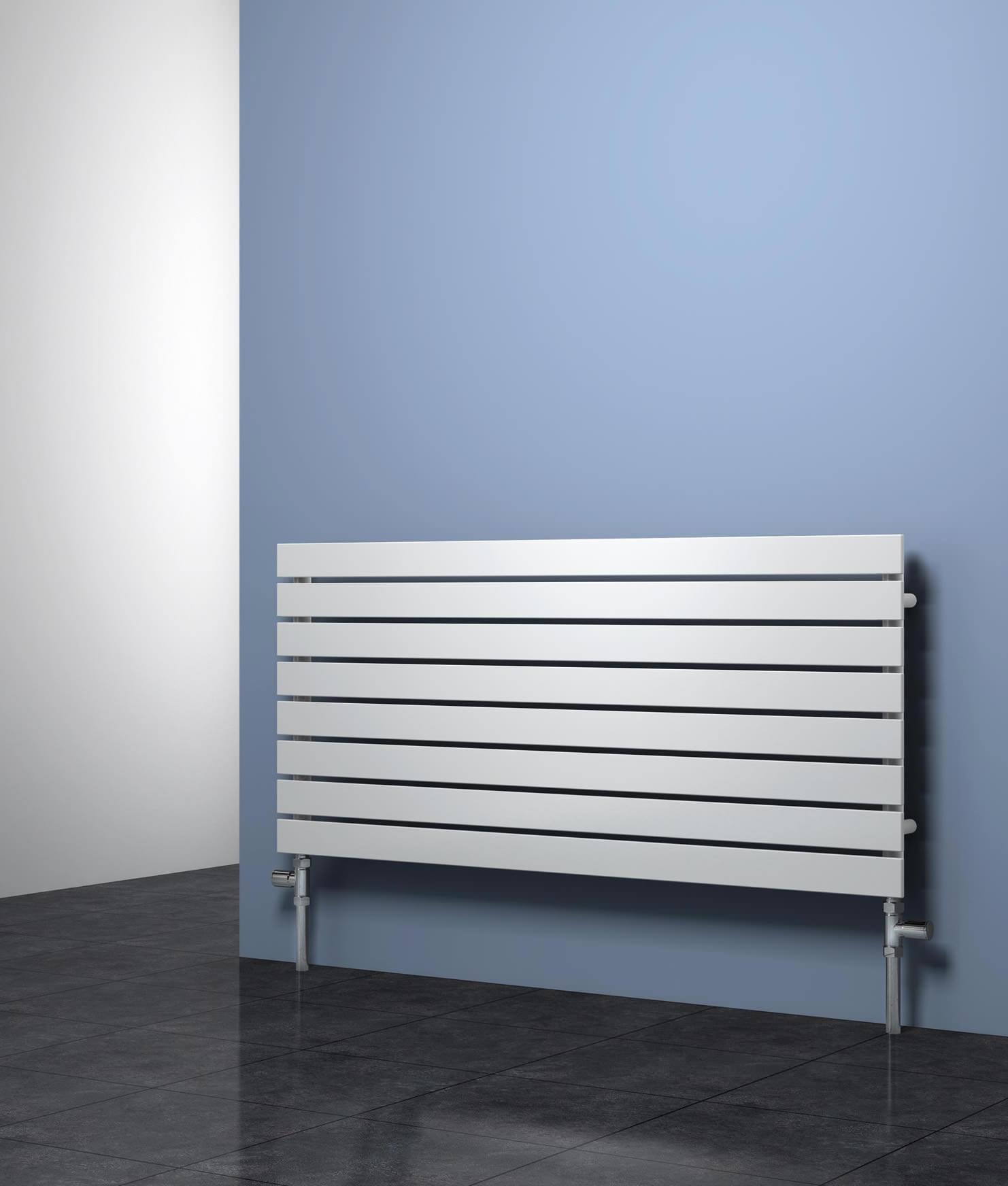 White Bathroom Radiators: Reina Rione Designer Radiator 800mm X 550mm White