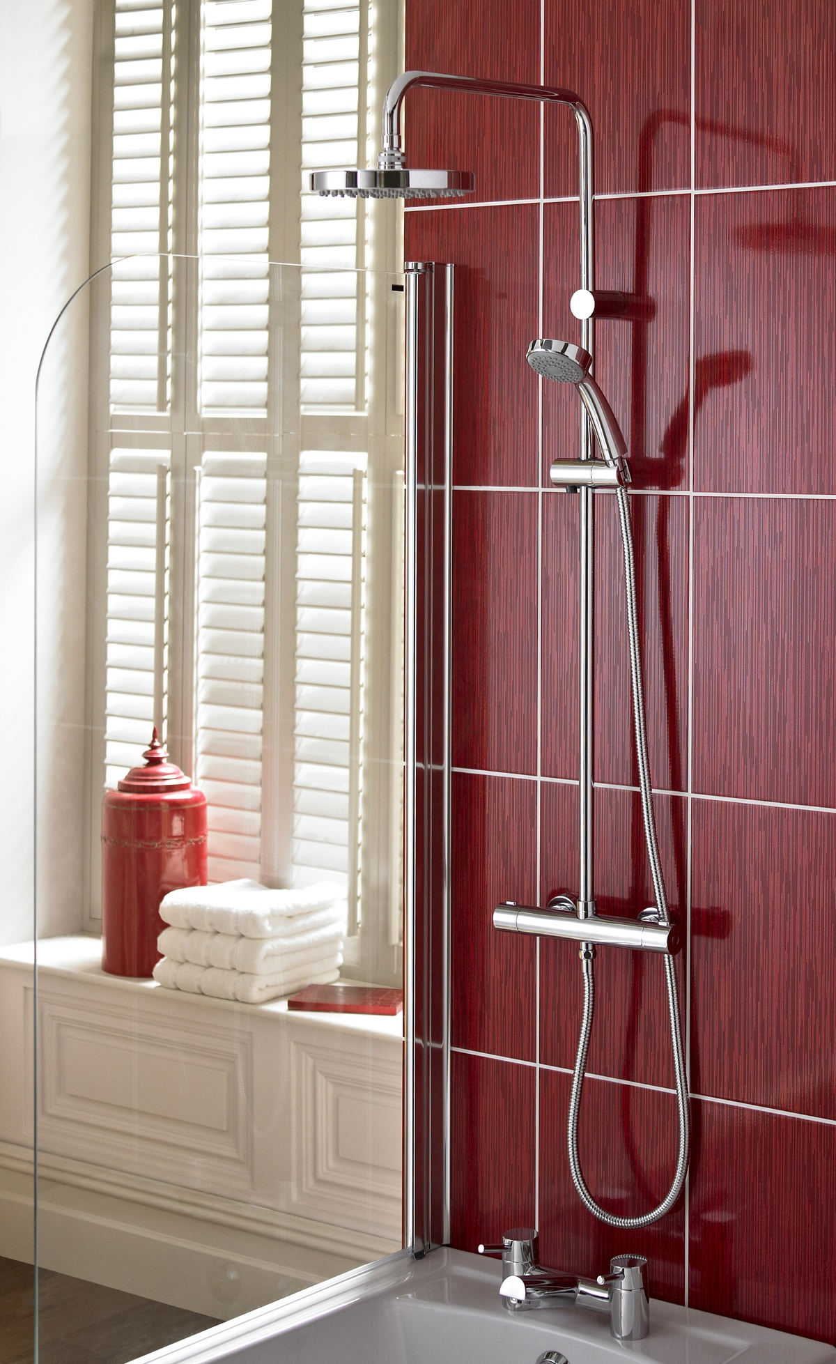 Carre Thermostatic Bar Shower Valve With Rigid Riser Cr