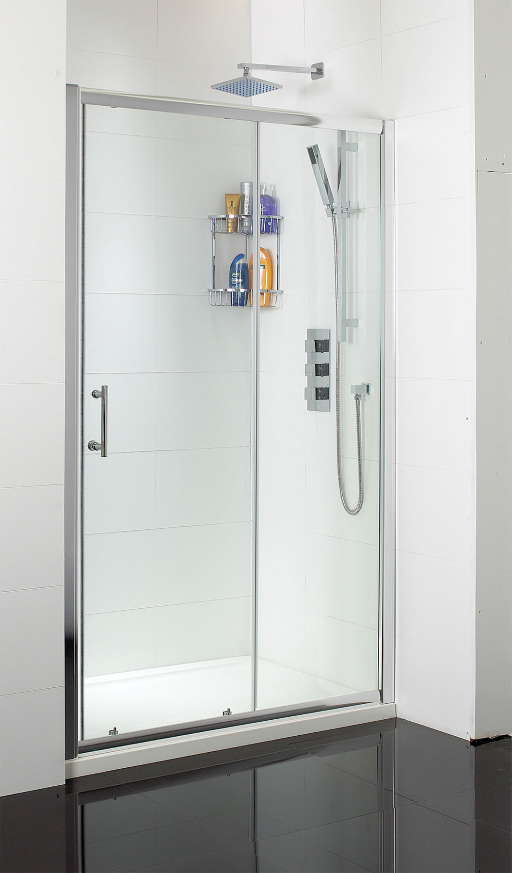 Phoenix single sliding shower door 1200mm se009 for 1200mm shower door sliding