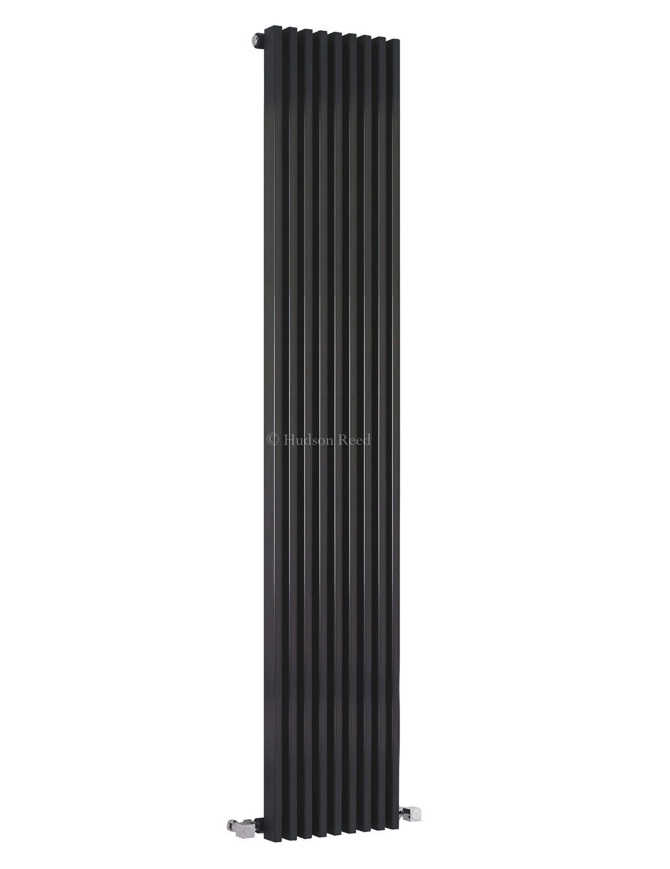 hudson reed parallel black designer radiator 342 x 1800mm. Black Bedroom Furniture Sets. Home Design Ideas