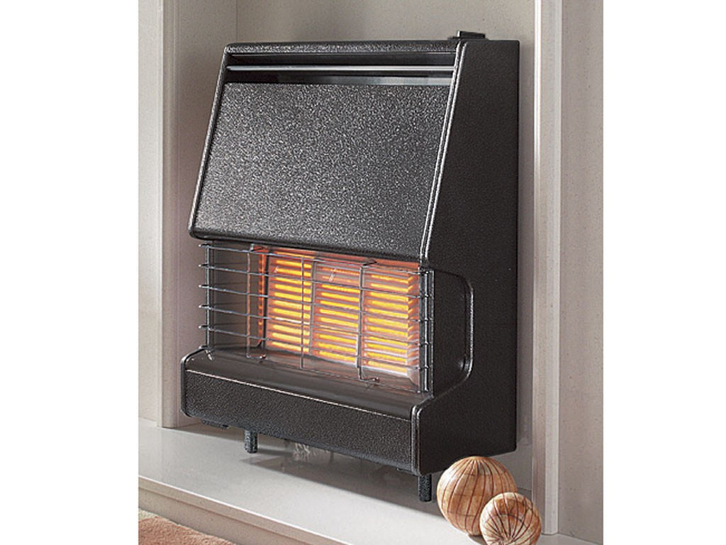 Flavel Firenza Radiant Top Control Outset Gas Fire Black